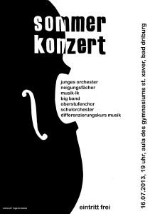 Plakat Sommerkonzert (2013)