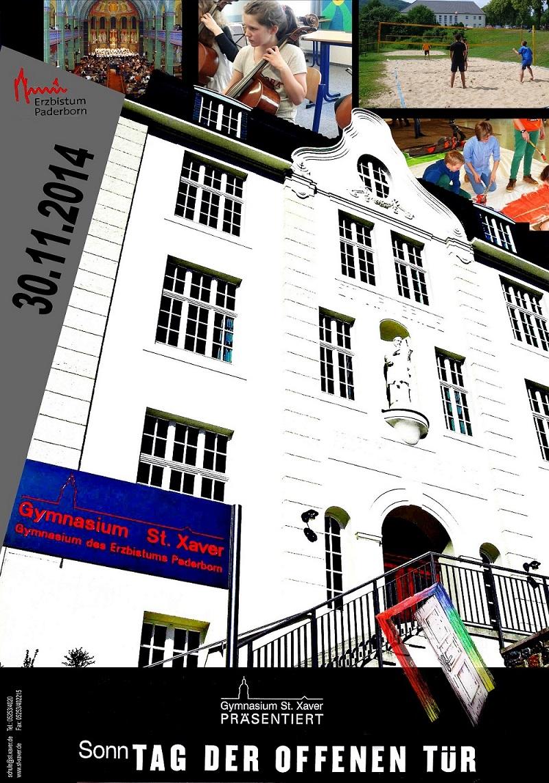 """Tag der offenen tür plakat design  Tag der offenen Tür"""" am Bad Driburger Gymnasium St. Xaver ..."""